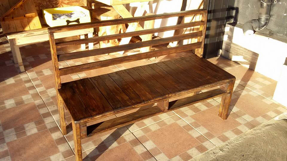 Pallet Bench Tutorial 101 Pallet Ideas