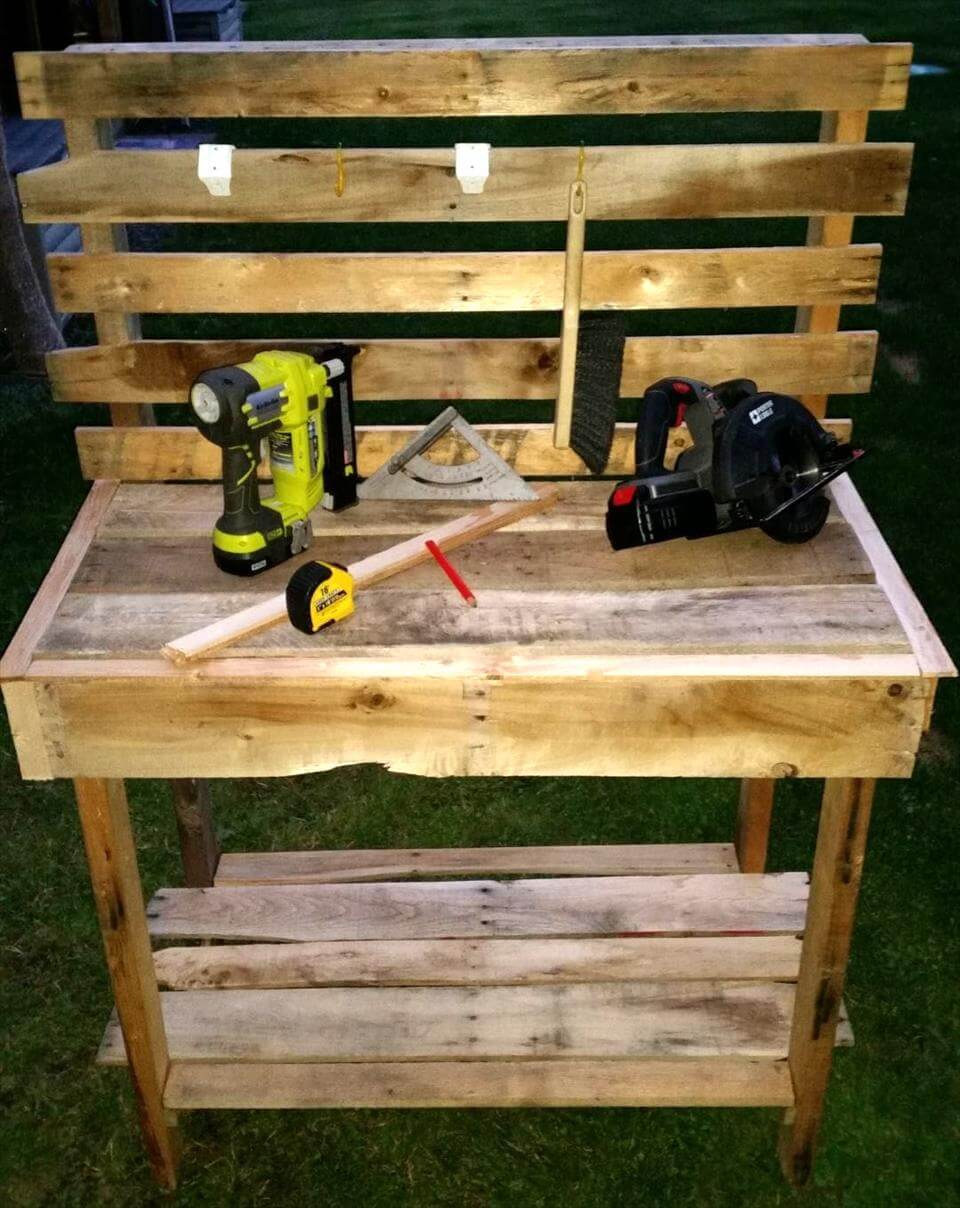 Pallet Potting Bench Step By