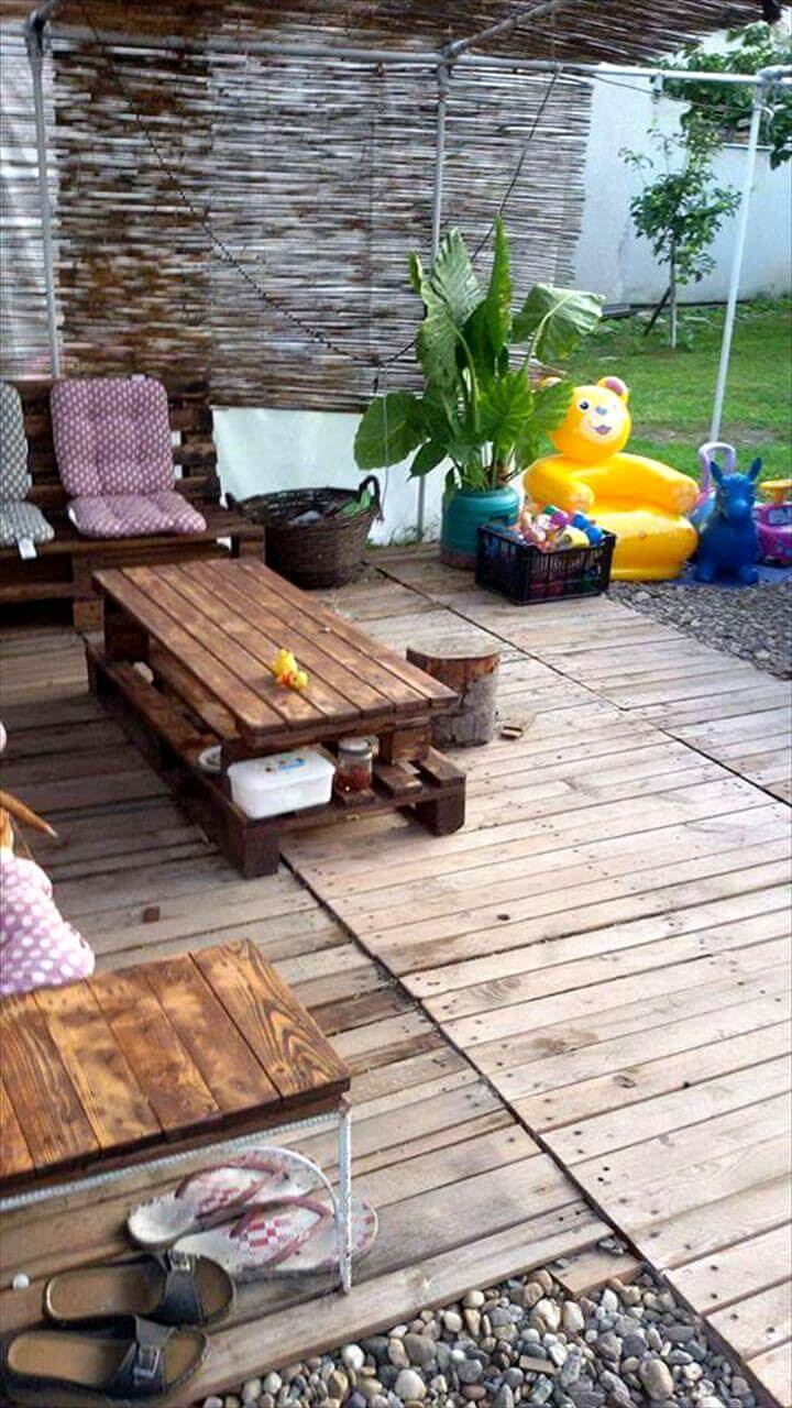 how to make a deck from pallets youtube pallets for decking