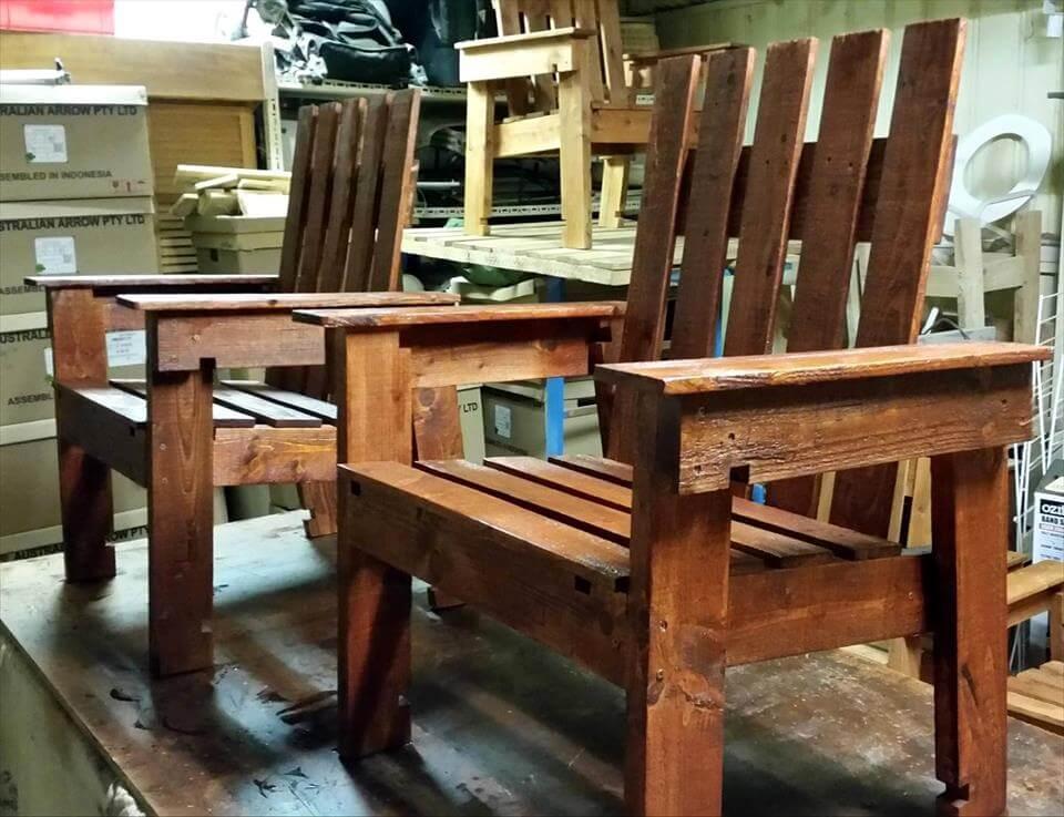 handmade pallet chairs