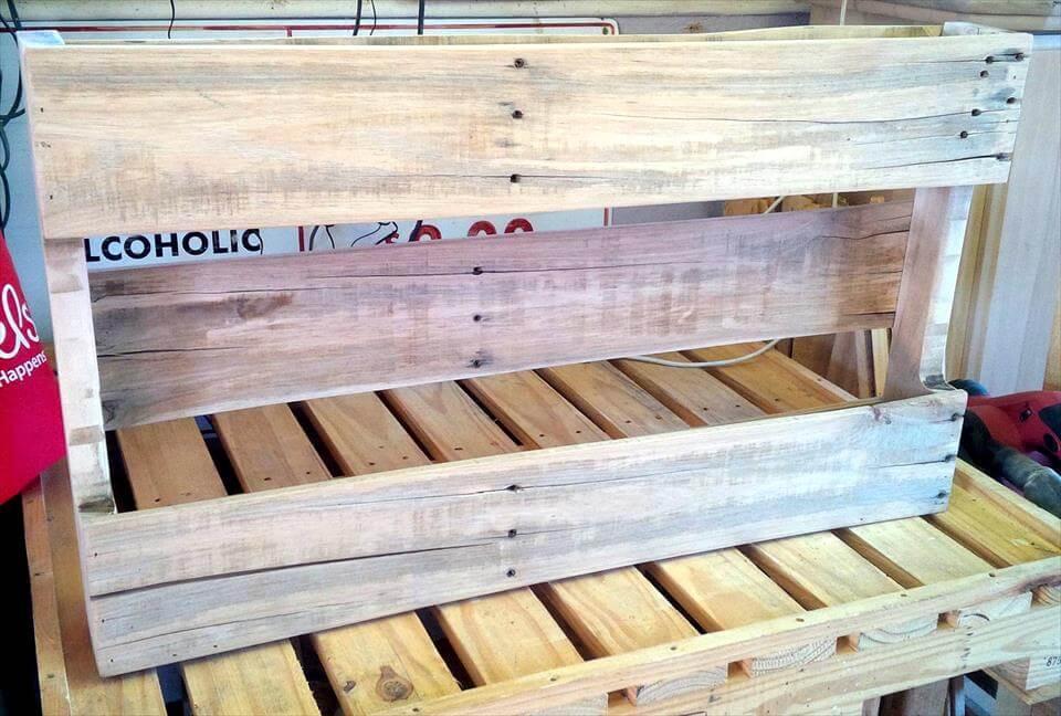 rustic wooden pallet shelf