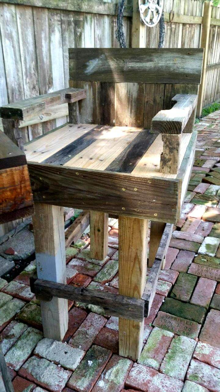 how to make a bar table out of pallets