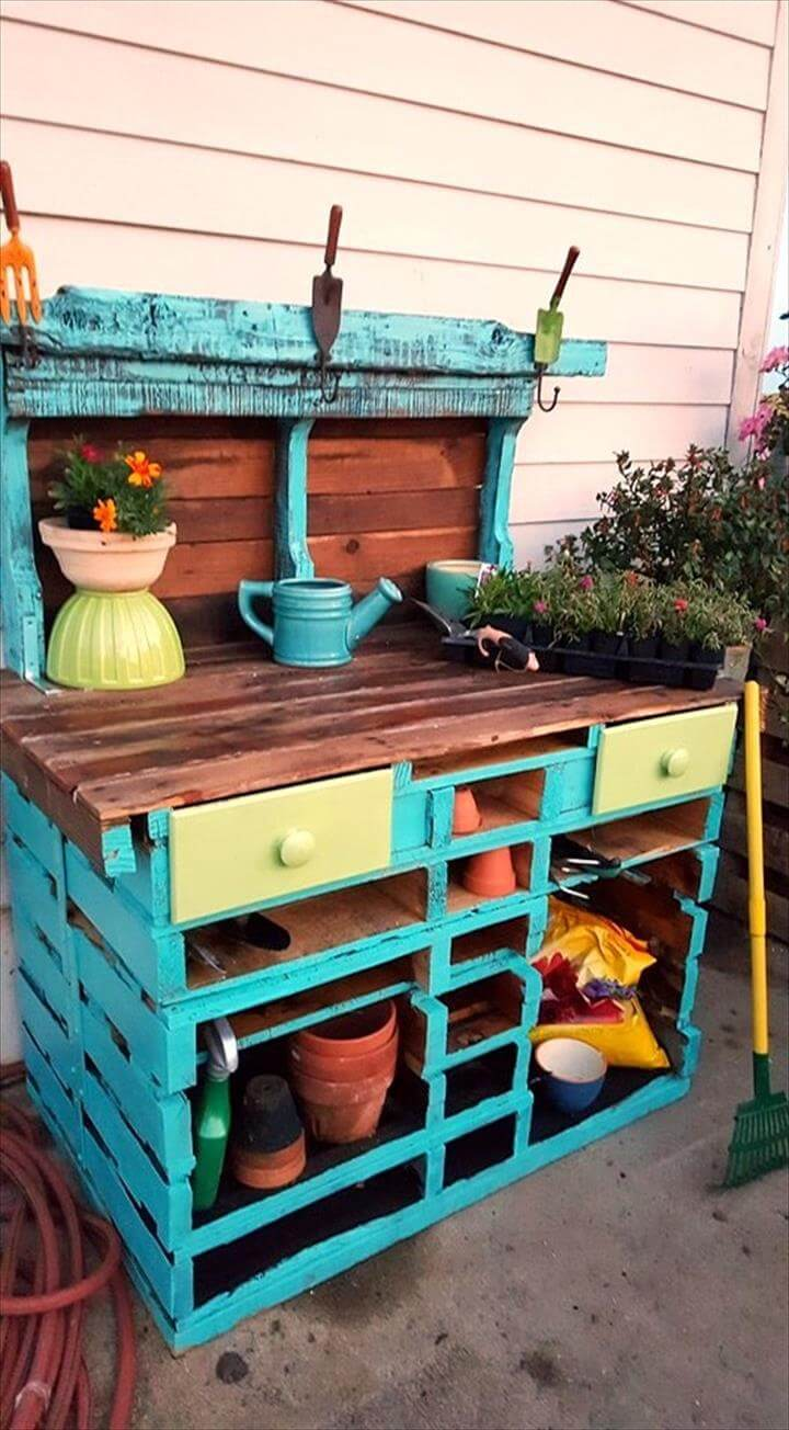 DIY Pallet Potting Table 101 Ideas