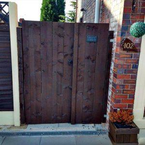 wooden pallet double garden gate