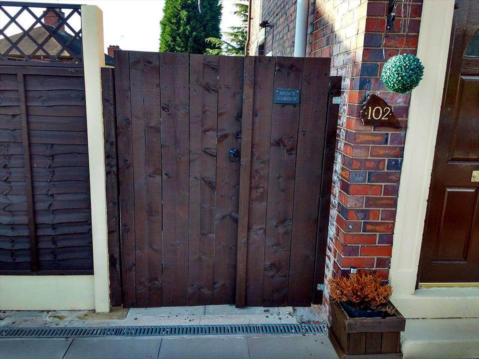 wooden pallet double garden gate