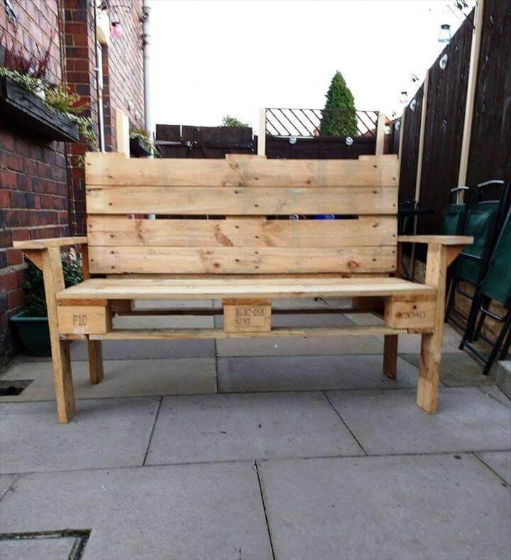 wooden pallet bench diy pallet bench