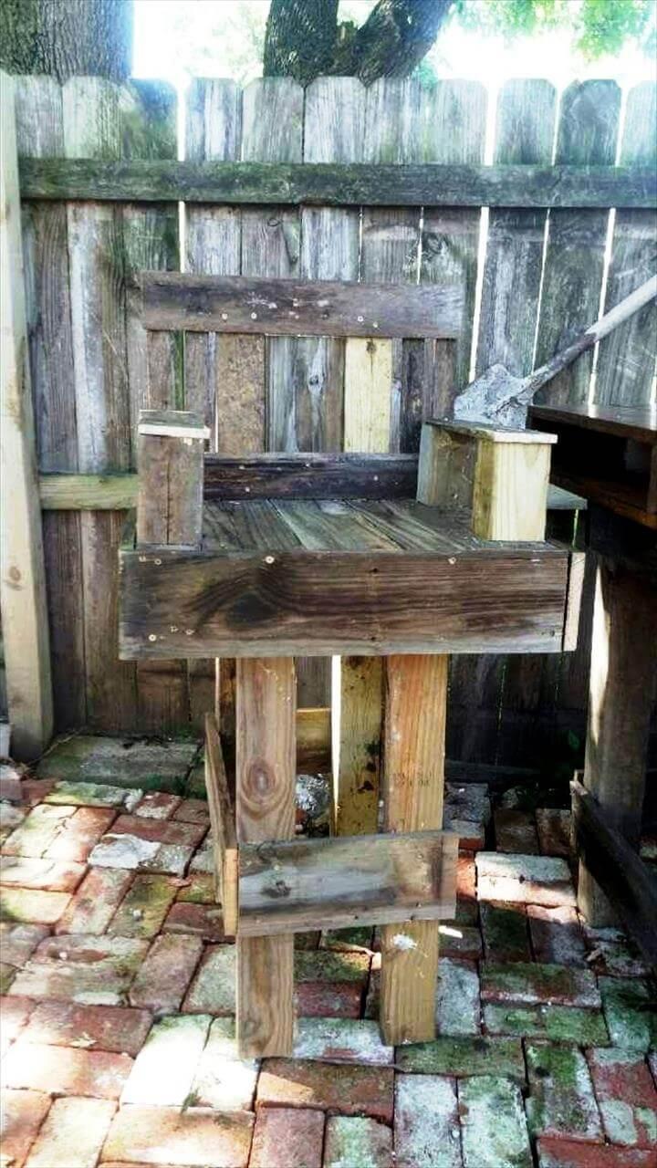 Diy Pallet Outdoor Bar Table Set 101 Pallet Ideas