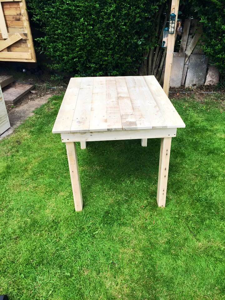 robust wooden pallet coffee table