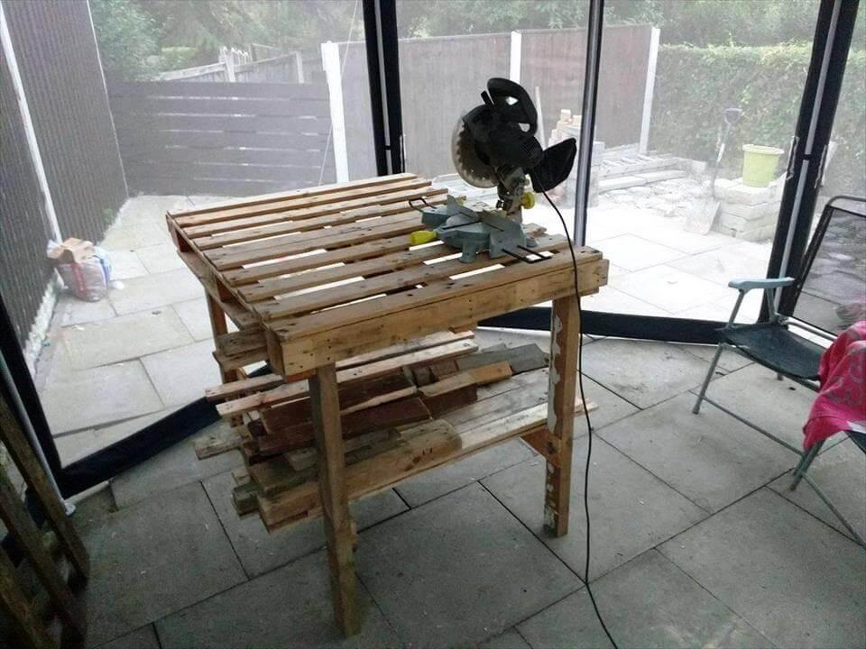 diy pallet working table