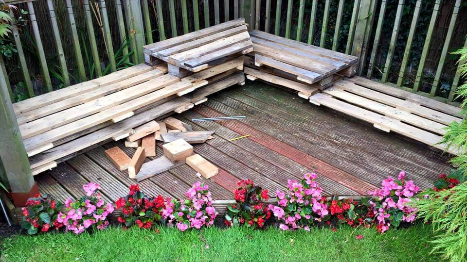 reclaimed wooden pallet sectional sofa