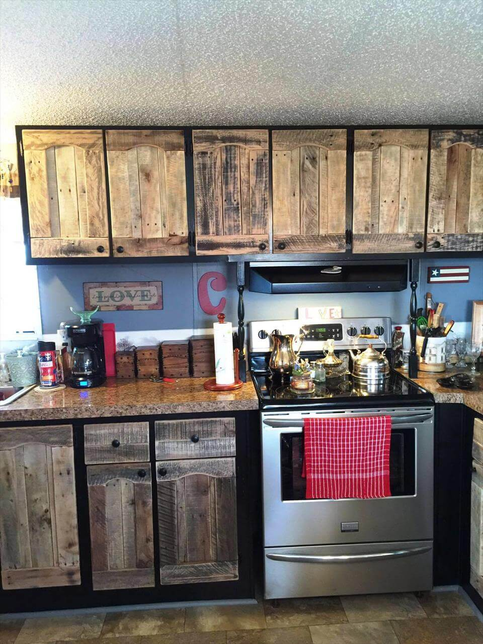Cupboards Made From Pallets Kitchen Cabinets Using Old Pallets