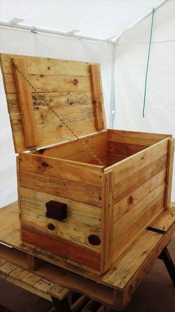Mini Pallet Wood Chest Or