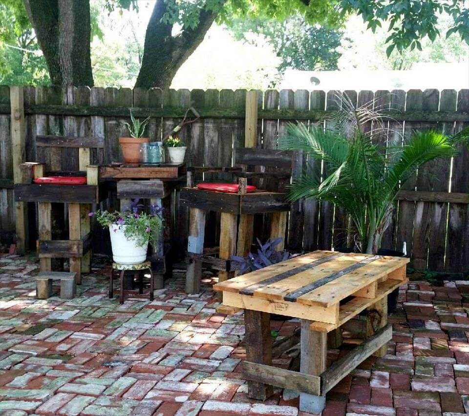 Outside Bar Diy Pallet Outdoor Bar Table Set 101 Pallet Ideas