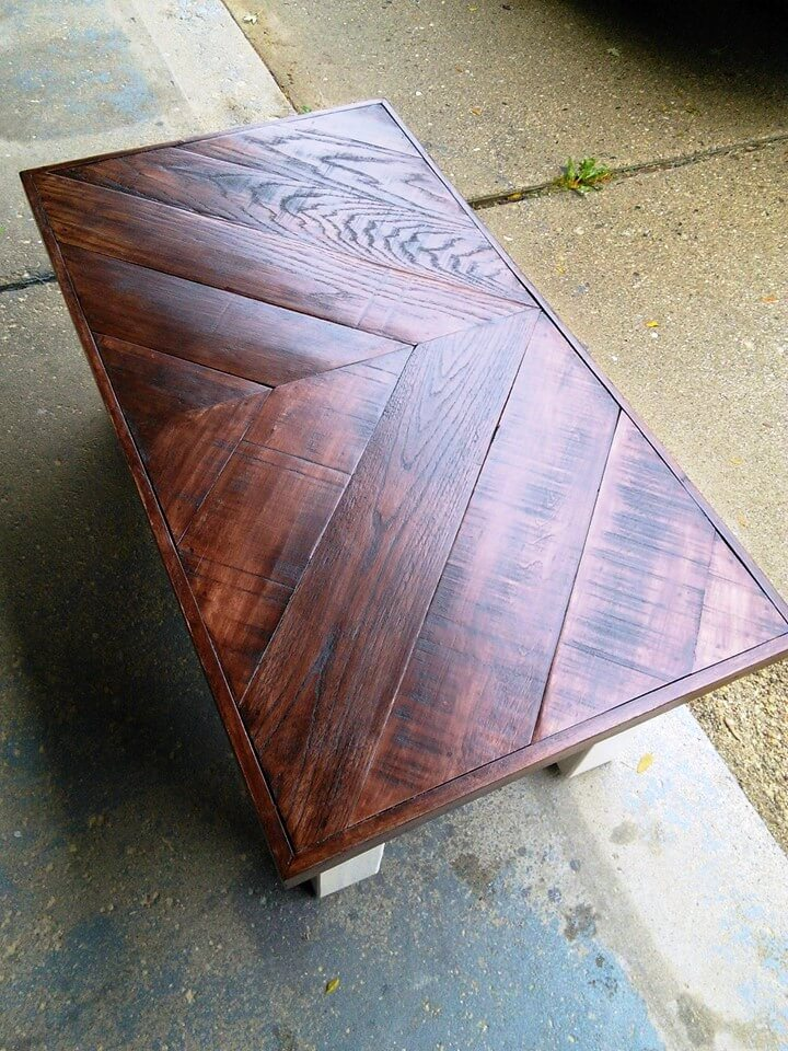 Chevron Pallet Coffee Table multi-chevron pallet coffee tables - 101 pallet ideas