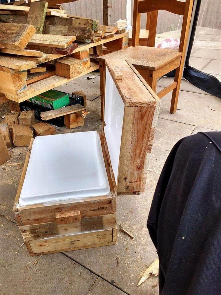 wood pallet drink box chest   101 pallet ideas