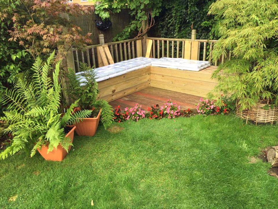 how to install a garden sectional sofa out of pallets