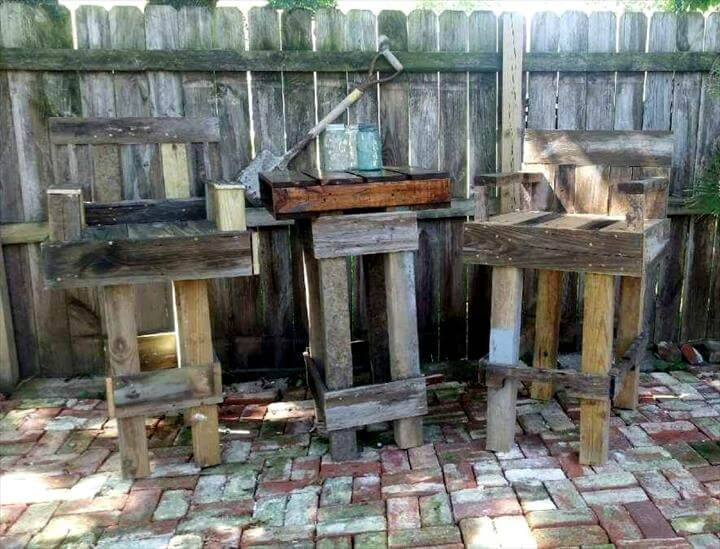 diy pallet outdoor bar table set 101 pallet ideas Small Dining Table Pallet Pallet Wood Dining Room Table