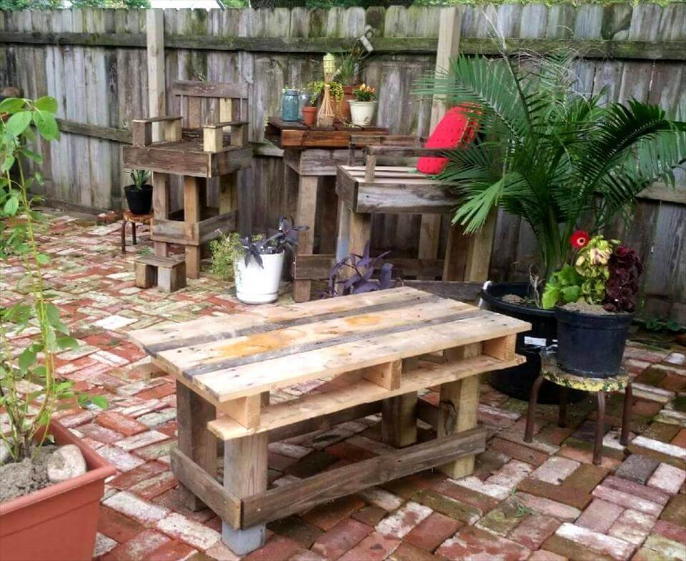 Diy Outdoor Bar Table Simple Diy Outdoor Bar Tips To  : rustic pallet outdoor bar table with 2 bar chairs from amlibgroup.com size 960 x 785 jpeg 122kB