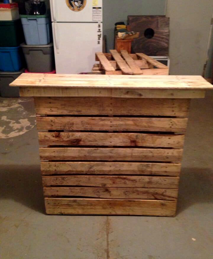 Easy Made Pallet Bar Table 101 Pallet Ideas