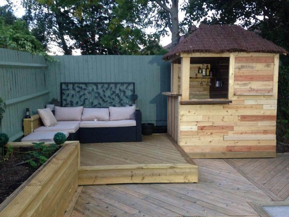 This fully remodeled wooden deck with a beverage bar in sides, would ...