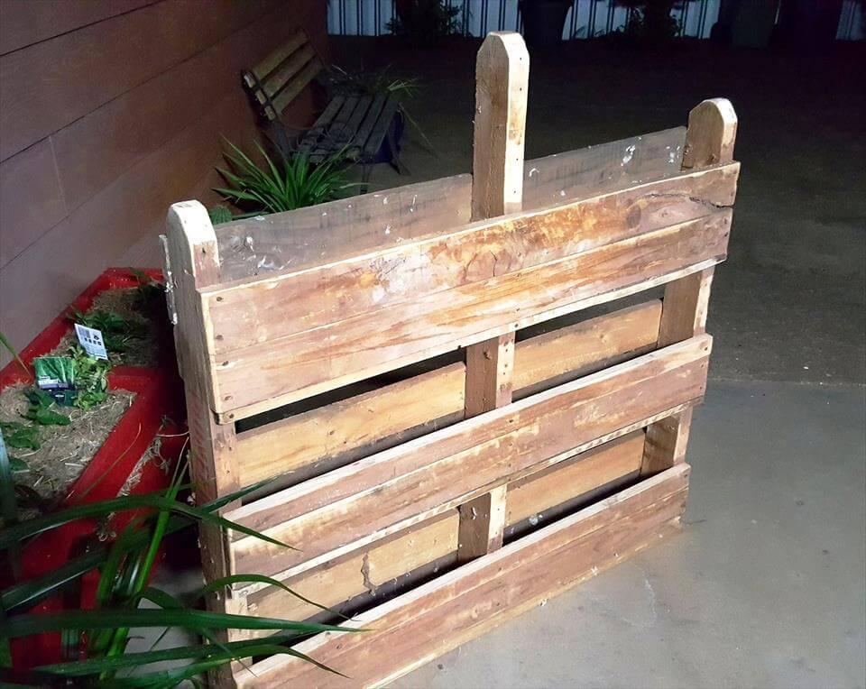 DIY Vertical Pallet Vegetable Garden on Wheels 101