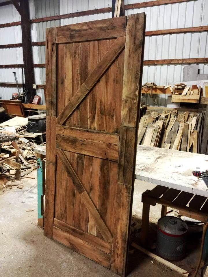 Doors made out of pallets for Diy wood door projects