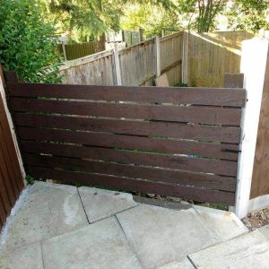 recycled pallet garden gate