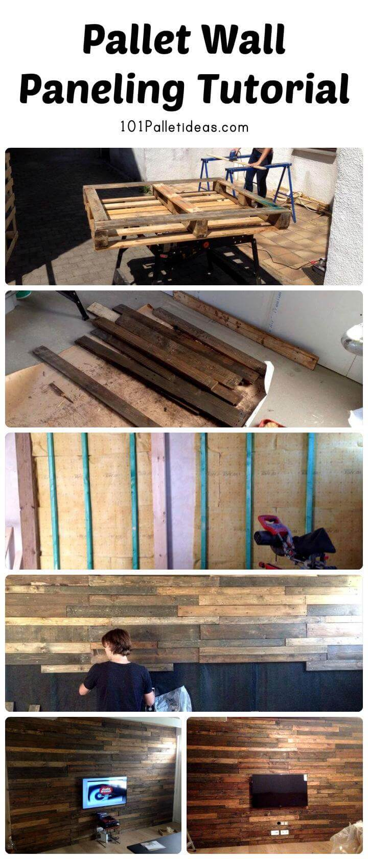 Diy Pallet Bathroom Wall Paneling: Pallet Wall Tutorial