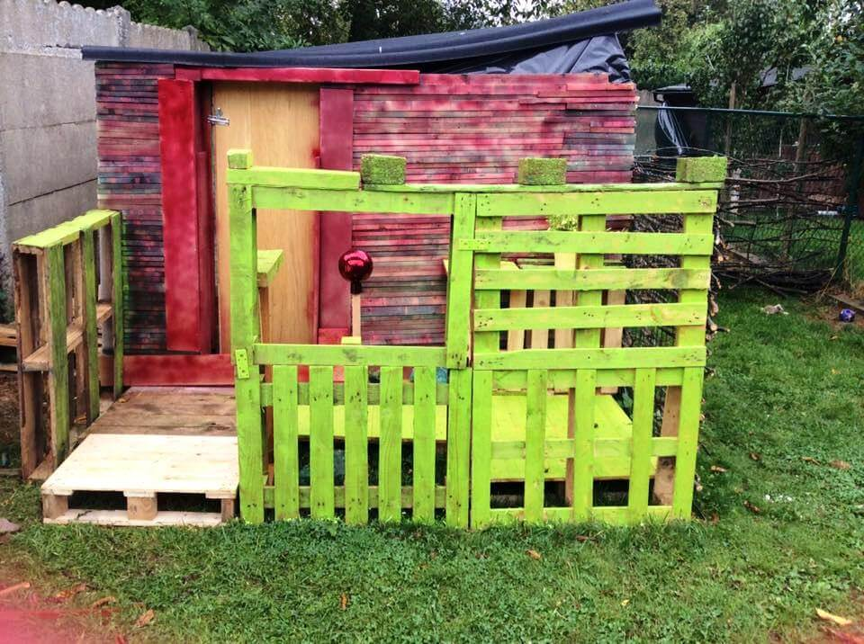 diy pallet garden shed cabin playhouse pallet garden shed tutorial