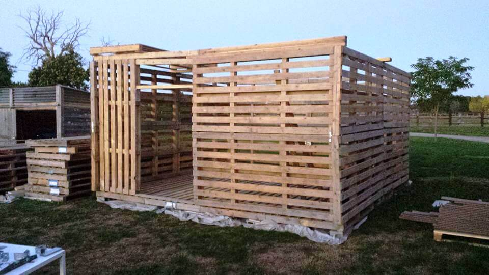 Garden Shed Made From Pallets : Pallet garden shed tutorial ideas