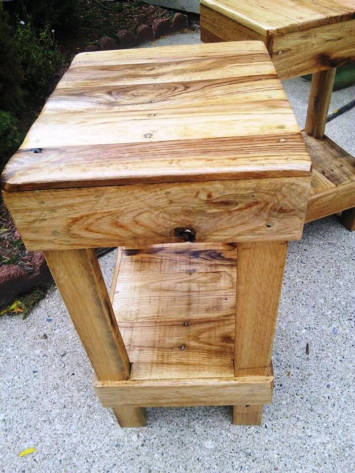 Pallet Stools Bar Made From Pallets