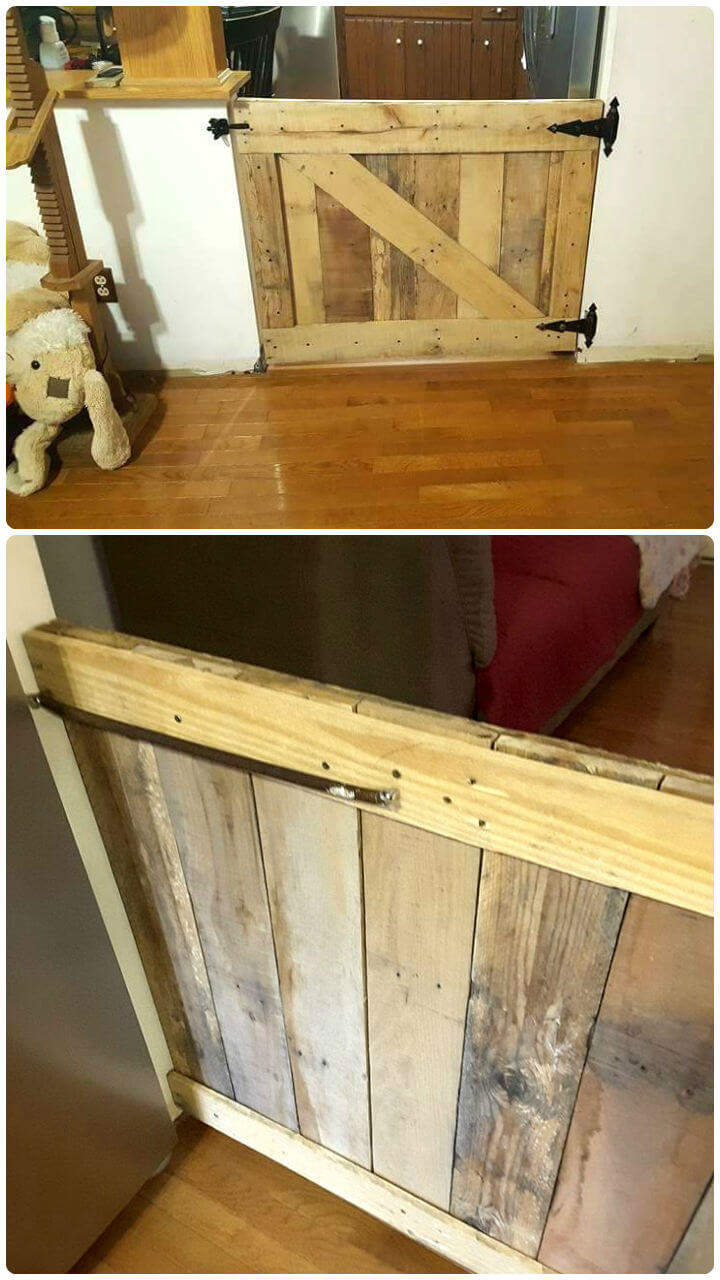 self-installed pallet mini gate