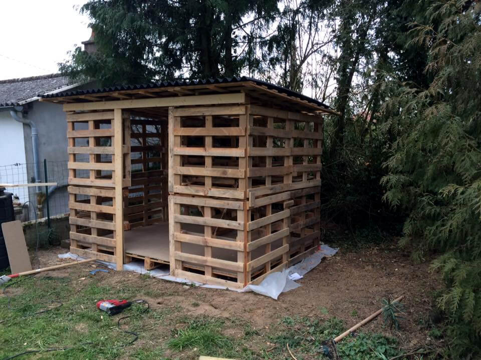 Pallet Wood Garden Shed : Amazing constructions with pallets pallet ideas