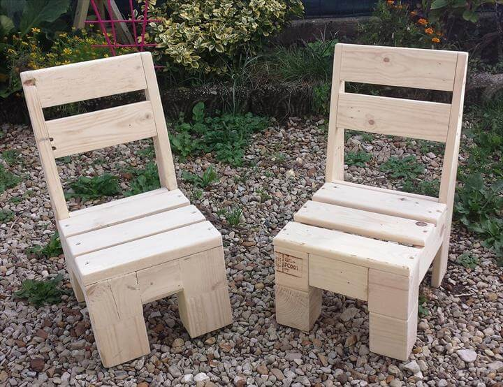 small pallet chairs for kids