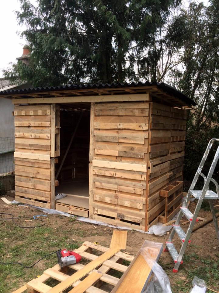 Amazing constructions with pallets 101 pallet ideas for Diy garden shed