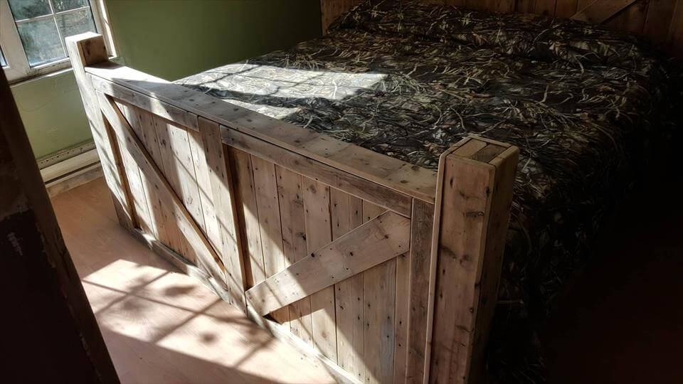 King Size Pallet Bed With Headboard Amp Footboard 101