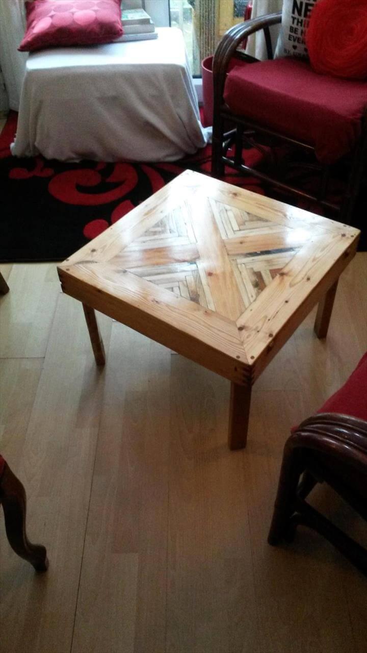 multi-chevron pallet coffee tables - 101 pallet ideas