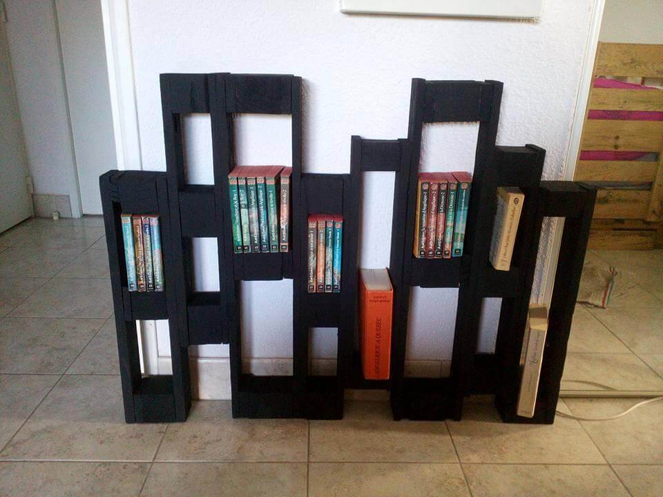repurposed removed pallet dice sections bookshelf or pot organizer