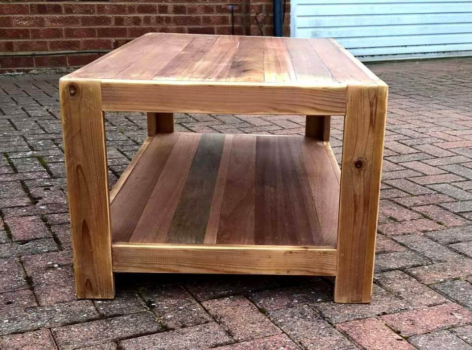 Wooden pallet coffee table and end table 101 pallet ideas for 12 end table
