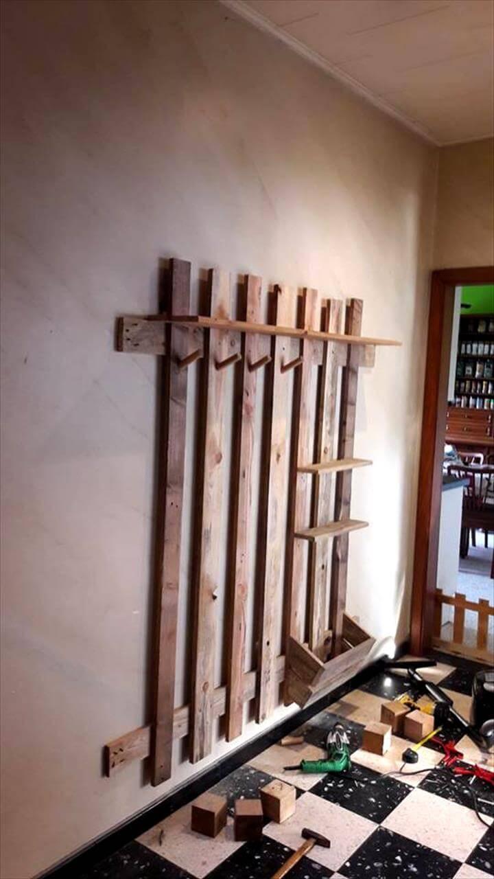 lasting longer wooden pallet wall organizer