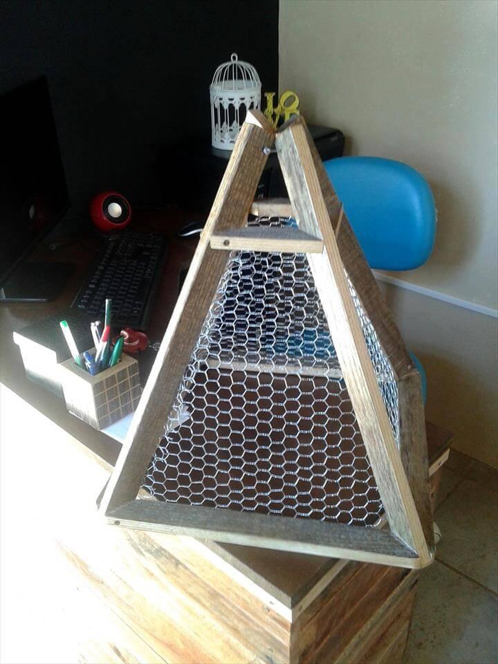 repurposed pallet pendant lampshade
